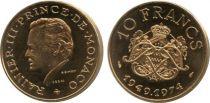 Mónaco 10 F Rainier III - 25th anniversary of reign