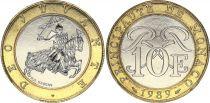 Monaco 10 Francs  Arms - 1989 - UNC