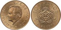 Monaco 10 Francs  Rainier III - 25 ans de règne -1949-1974