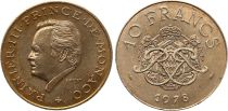Monaco 10 Francs  Rainier III - Armoiries - 1978