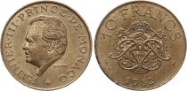 Monaco 10 Francs  Rainier III - Armoiries - 1981