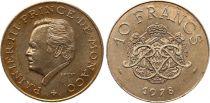 Monaco 10 Francs  Rainier III - Arms - 1978