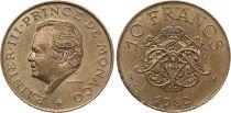 Monaco 10 Francs  Rainier III - Arms - 1981
