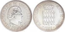 Monaco 10 Francs Charles III  - 1966 - XF - Silver
