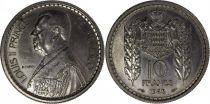 Monaco 10 Francs Louis II - 1945 Essai - Tirage 1.100 ex