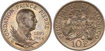 Monaco 10 Francs Prince Pierre Fondation\'s - 1989