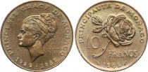 Monaco 10 Francs Princesse Grace - 1982