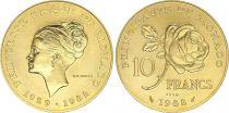 Monaco 10 Francs Princesse Grace - 1982 pattern - GOLD - AU