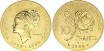 Monaco 10 Francs Princesse Grace - 1982 pattern - GOLD - AU