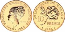 Monaco 10 Francs Princesse Grace - 1982 pattern