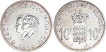 Monaco 10 Francs Rainier III Grace Kelly - Mariage - 1966 - SUP