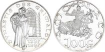 Monaco 100 Francs 700th years of the Grimaldi dynasty - 1997 - Silver