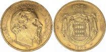 Monaco 100 Francs Charles III - 1884 A Gold