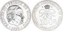 Monaco 100 Francs Rainier III - 50 ans de règne - 1949-1999 - Argent