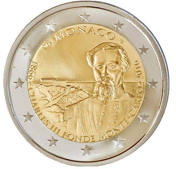 Monaco 2 Euro, 150 ans Fondation de Monte-Carlo - Frappe BE 2016