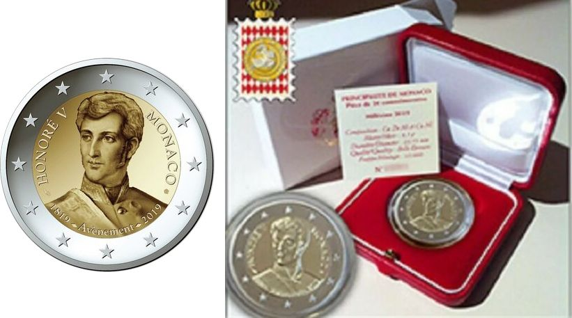 Monaco 2 Euro, Honoré V - Proof 2018