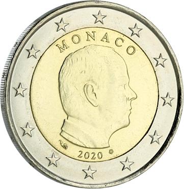 Monaco 2 Euro Monaco Albert II - 2020 Bimétal