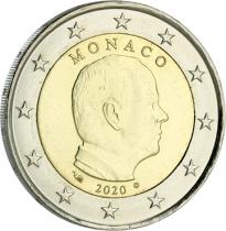 Monaco 2 Euro Monaco Albert II - 2020 Bimetal