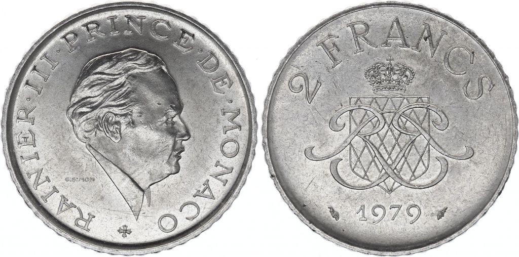 Monaco 2 Francs  Rainier III -  1979 - Sup