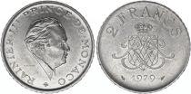 Monaco 2 Francs  Rainier III - 1979 - XF to Au