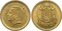 Monaco 2 Francs Louis II - Arms - ND (1945)