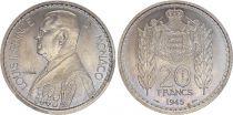 Monaco 20 Francs Louis II - 1945 Essai - Tirage 1.100 ex