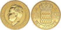 Monaco 20 Francs Rainier III - 1950 Essai - Gold - Mintage : 500 ex