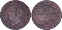Monaco 5 Centimes Honoré V - 1837 MC - Gad 102