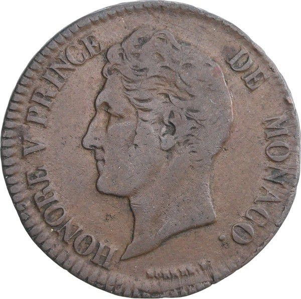 Monaco 5 Centimes Honoré V - 1837 MC