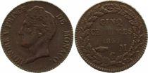 Monaco 5 Centimes Honoré V - 1837 MC