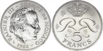 Monaco 5 Francs Rainier III - 1982 - SUP