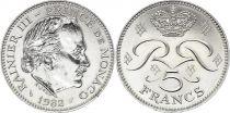 Monaco 5 Francs Rainier III - 1982 - XF - KM.150