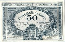 Monaco 50 centimes  - Armoiries  - 20/03/1920