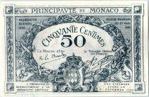Monaco 50 centimes  - Armoiries  - 20/03/1920