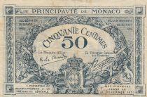 Monaco 50 Centimes  - Arms  - 1920 - Serial F