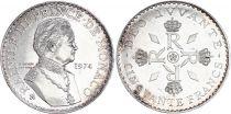 Monaco 50 Francs Rainier III - 1974 - Argent