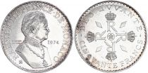 Monaco 50 Francs Rainier III - 1974 - Silver