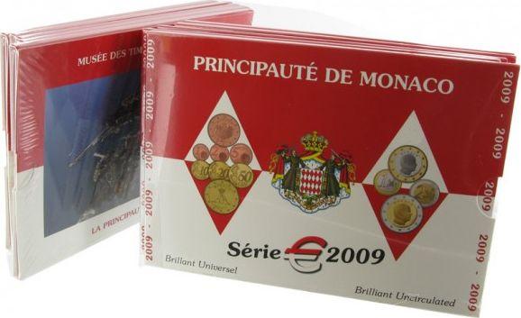 Monaco Coffret BU Euro - Monaco  8 pièces - 2009