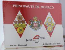 Monaco Coffret BU Euro - Monaco  8 pièces - Prince Rainier -  2001