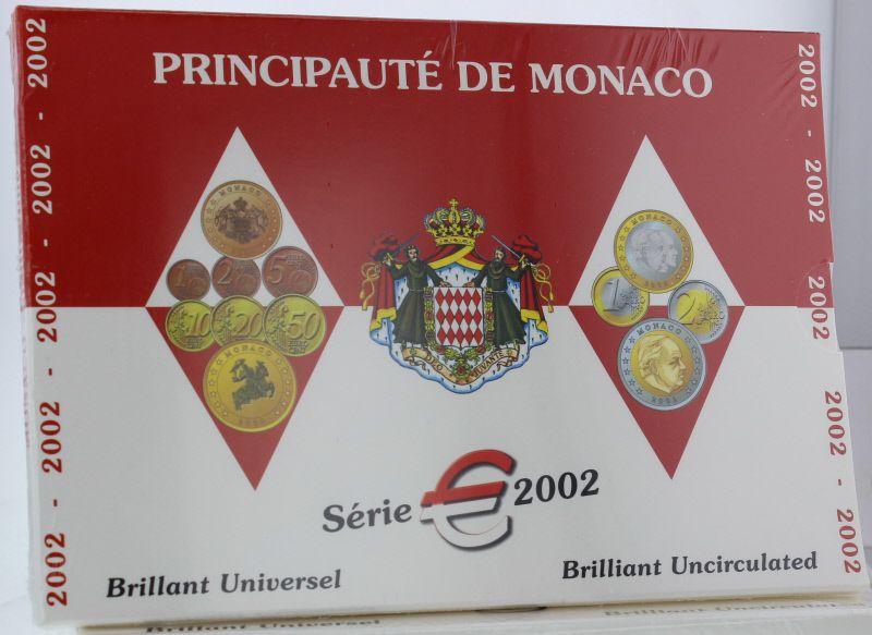 Pièce Monaco Coffret Bu Euro Monaco 8 Pièces Prince Rainier 2002