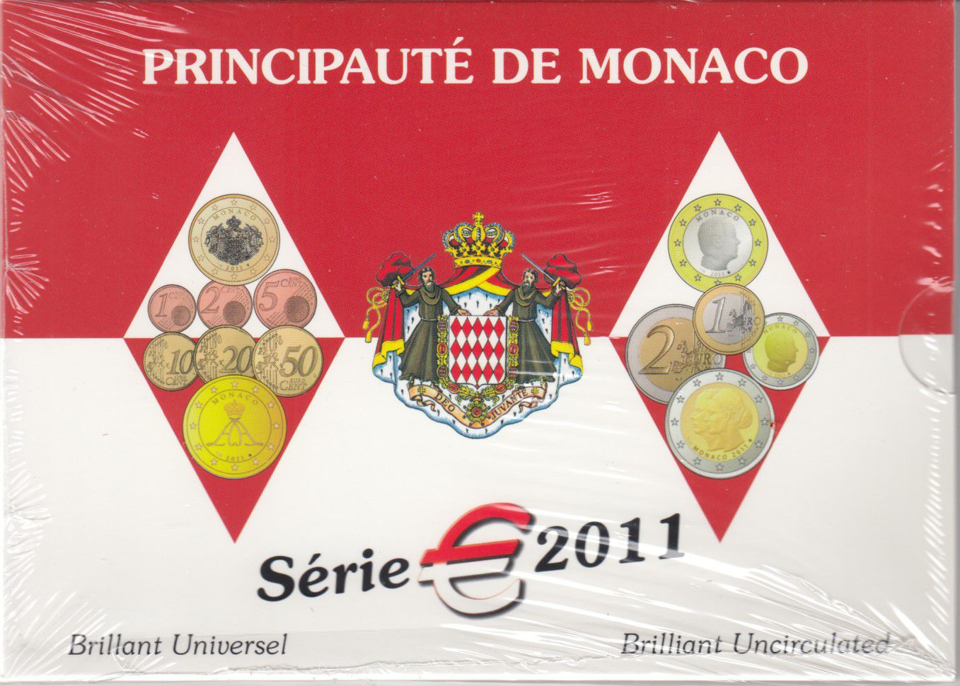 Monaco Coffret BU Euro - Monaco 9 pièces - 2011- Mariage