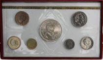 Monaco FDC.1975 Set of 7 coins Rainier III - 1975