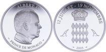 Monaco Médaille - Albert II 2005 - Argent