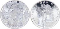 Monaco Médaille - Dynastie des Grimaldi - 1297-1997 - Argent