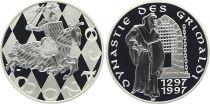 Monaco Médaille - Dynastie des Grimaldi - 1297-1997