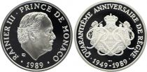 Monaco Médaille - Rainier III - 1989 - 40 ans de règne