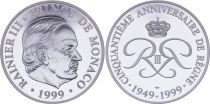Monaco Médaille - Rainier III - 1999 - 50 ans de règne - Argent