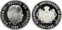 Mónaco Medal - Rainier III - 1989 - 40 Years 40 of Reign