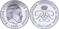 Monaco Medal - Rainier III - 1999 - 50 years od Reign - Silver