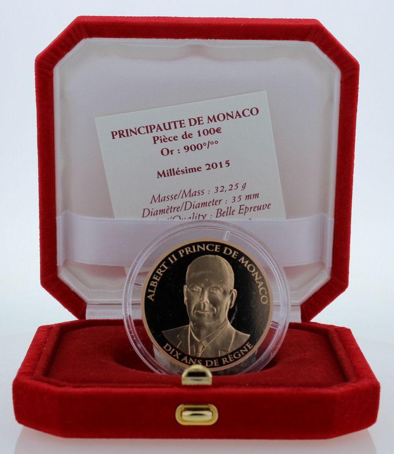 Monaco Monaco - 100 euros or BE 2015 - Dix ans de règne
